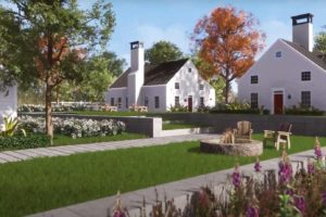 Homefront Cottages and Outdoor Paths