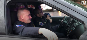 Two Police Officers in Car